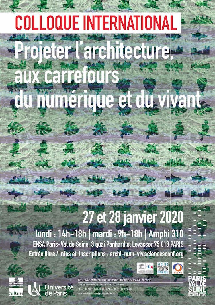 """Ensa Paris Val De Seine colloque international """"projeter l'architecture, aux"""